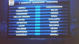 e91a6f43e7 Il calendario di serie A 2015-2016 - Calcio - RaiSport
