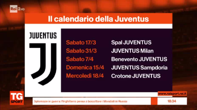 Calendario Iuve.Il Calendario Di Juve E Napoli Video Calcio Raisport