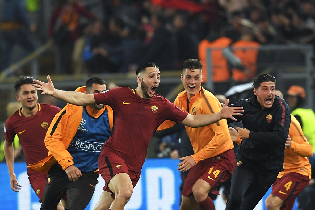 Roma - Barça 3-0 (Getty Images)